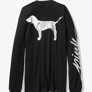 🆕️VS PINK, Skelton Dog Long Sleeve